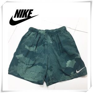 Nike Dri Fit Boys Green Graphic Print Shorts